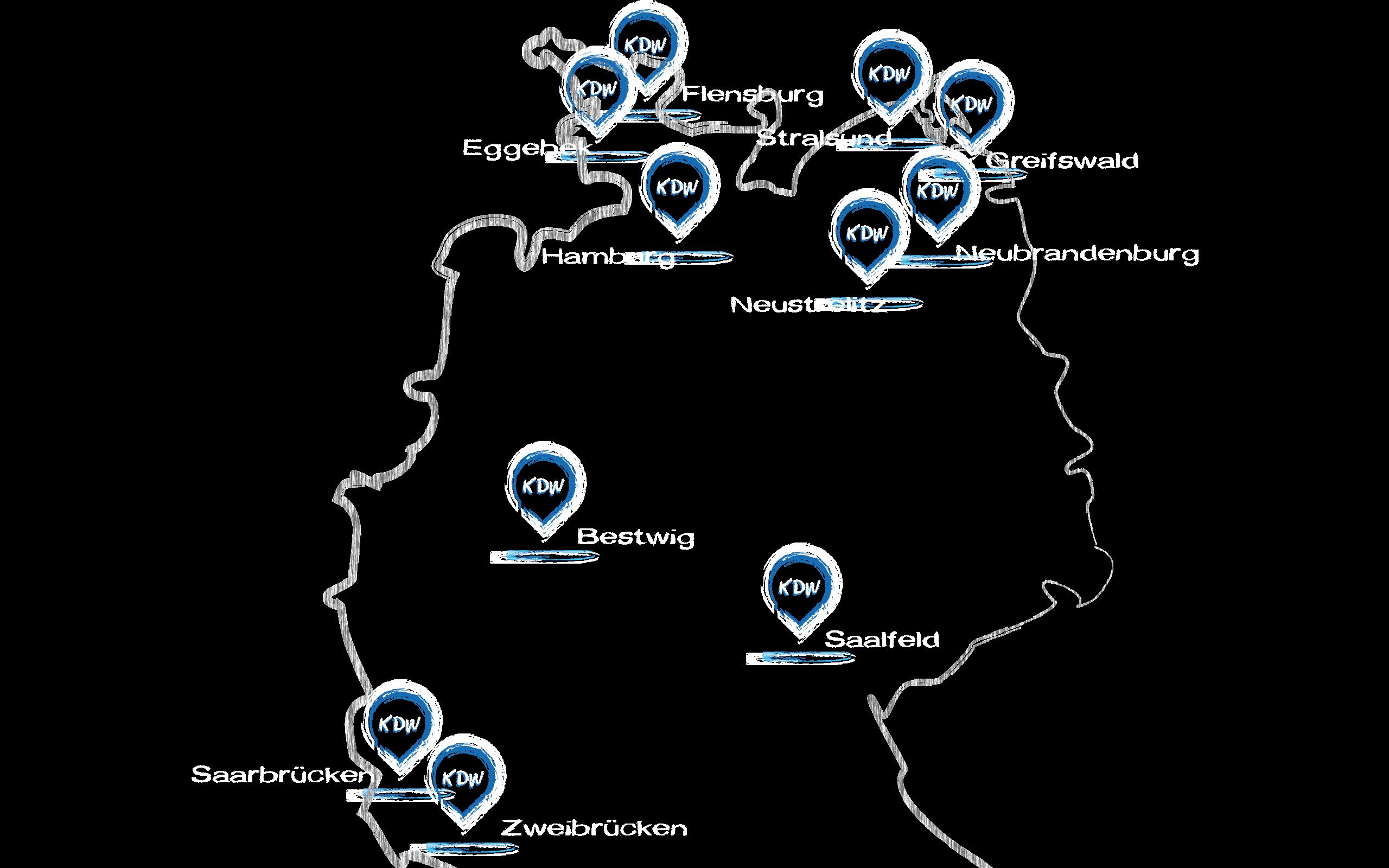 KDW Standorte Deutschland