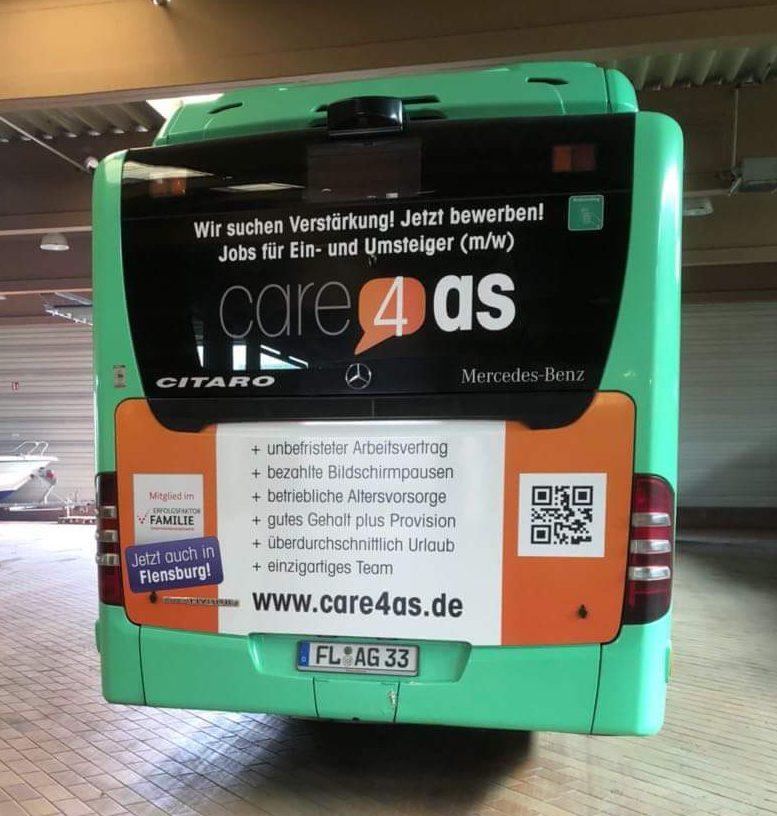 Care4as Buswerbung